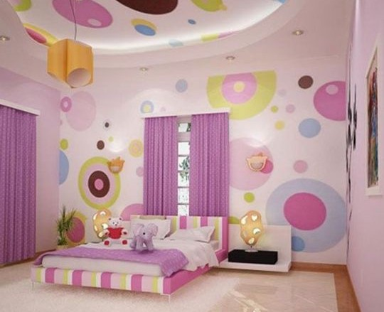 Как оформить потолок в детской комнате - советы, подборка оригинальных фото потолков в детскую